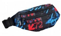 Saszetka na pas torba nerka COOLPACK MADISON niebiesko - czerwone wzory, UNDERGROUND 839 (75701)