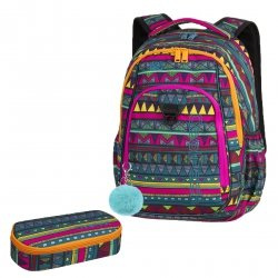 ZESTAW 2 el. Plecak CoolPack STRIKE meksykański wzór, MEXICAN TRIP + pompon (85427CPSET2CZ)