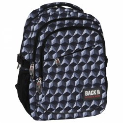 Plecak szkolny młodzieżowy Back UP szara iluzja GREY ILLUSION (PLB1G48)
