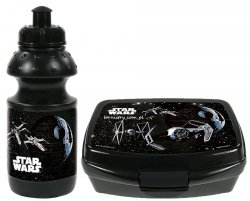 Zestaw bidon i śniadaniówka w kartoniku STAR WARS, licencja Disney (ZSBSW14)