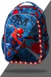 Plecak wczesnoszkolny CoolPack LED JOY S Spiderman na niebieskim tle, SPIDERMAN DENIM (B47304)