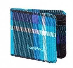 Portfel młodzieżowy COOLPACK PATRON w niebieską kratę SCOTT 390 (63395)