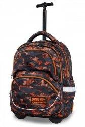 Plecak CoolPack STARR na kółkach w pomarańczowe wzory, ORANGO (B35098)