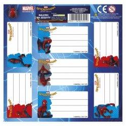 Nalepki na zeszyty Amazing Spiderman, licencja Marvel (NNZSH)