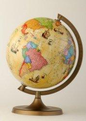 Globus fizyczny 220 mm z trasami odkrywców (0515)