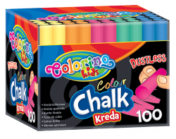Kreda kolorowa bezpyłowa 100 sztuk COLORINO (33169PTR)