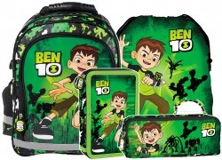 Plecak szkolny BEN 10 (PL15BBN10SET4CZ) ZESTAW 4 el.