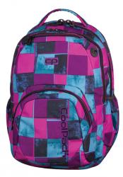 Plecak szkolny młodzieżowy COOLPACK SMASH w niebieskie i różowe kwadraty, PLAID 904 (69342)