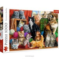 TREFL Puzzle 1000 el. Kocie spotkanie (10555)