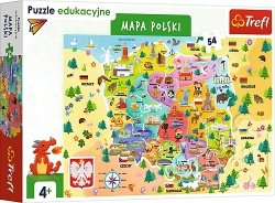 TREFL Puzzle Edukacyjne 54 el. Mapa Polski (15556)