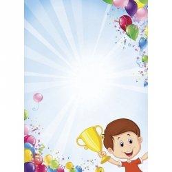 Dyplom dziecięcy sportowy CHŁOPIEC Z PUCHAREM (40996)