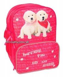 Plecak szkolny z pieskami (13a102D)