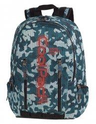 Plecak szkolny młodzieżowy COOLPACK IMPACT II siateczkowe zielone moro, CAMO MESH GREEN (84106CP)
