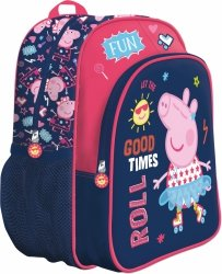 Plecak przedszkolny Świnka Peppa na rolkach wycieczkowy (73875)