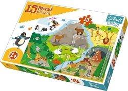 TREFL Puzzle 15 Maxi Zwierzątka i ich domki (14280)