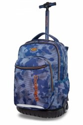 Plecak CoolPack SWIFT na kółkach niebieski z pomarańczowym dodatkami, MISTY TANGERINE (B04002)