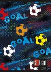 Zeszyt A5 w kolorwą linię St.Right 32 kartki GOAL (06290)