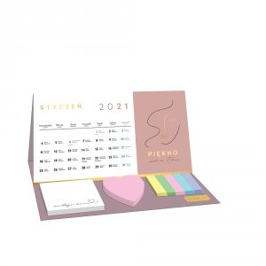 Kalendarz na biurko 2021 MOTYWACYJNY z karteczkami INTERDRUK (74069)