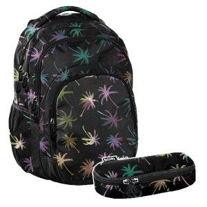 ZESTAW 2 el. Plecak szkolny młodzieżowy PALM TREE, palmy Paso (PPPL20-2706SET2CZ)