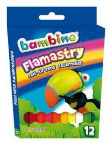 Flamastry 12 kolorów BAMBINO (01604)