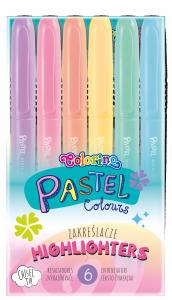 Zakreślacze pastelowe 6 kolorów Colorino (84965PTR)