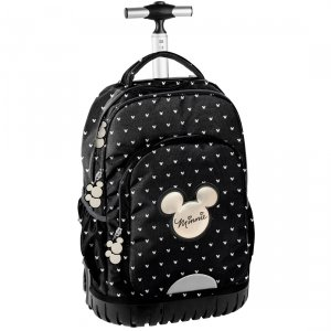 Plecak szkolny, młodzieżowy na kółkach Myszka Minnie, MINNIE BLACK Paso (DIBL-1231)