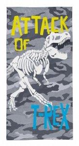 Ręcznik plażowy kąpielowy 70x140 DINOSAURS Dinozaury (WZÓR34)