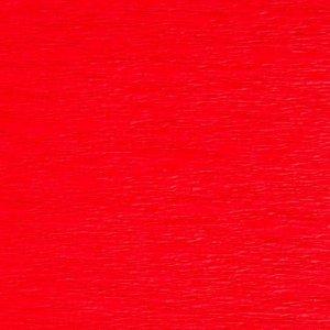 Bibuła marszczona krepa JASNOCZERWONA