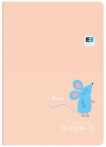Zeszyt A5 w kolorową linię 16 kartek B&B MAUSE myszka (55563)