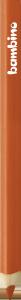 KREDKA TRÓJKĄTNA BAMBINO w oprawie drewnianej POMARAŃCZOWA (03622)