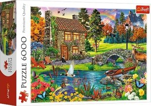 TREFL Puzzle 6000 el. CHATKA W GÓRACH (65006)