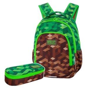 ZESTAW 2 el. Plecak wczesnoszkolny CoolPack PRIME 23 L miejska dżungla, CITY JUNGLE (C25199SET2CZ)