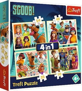 TREFL Puzzle 4 w 1 SCOOBY DOO I PRZYJACIELE (34340)