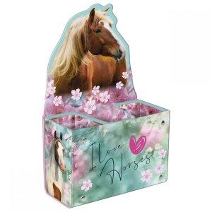 Biurkowy pojemnik na przybory szkolne I Love Horses KONIE (PPSKO19)