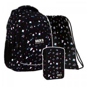 ZESTAW 3 el. Plecak szkolny młodzieżowy BackUP 26 L TALK (PLB4A16SET3CZ)