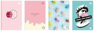 4x Zeszyt zapachowy A5 60 kartek w kratkę BUBBLE GUM guma balonowa mix (98423SET4CZ)