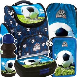 ZESTAW 5 el. Tornister szkolny ergonomiczny FOOTBALL Piłka nożna (TEMBPI16SET5CZ)