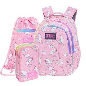 ZESTAW 3 el. Plecak wczesnoszkolny CoolPack JOY S 21 L koty, PUSHEEN (C48235SET3CZ)