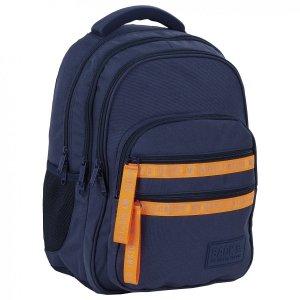 Plecak szkolny młodzieżowy BackUP 28 L granatowy, FLUO NAVY (PLB4M58)