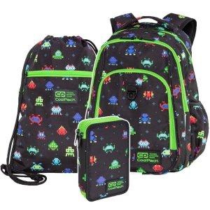 ZESTAW 3 el. Plecak CoolPack STRIKE L 27 L piksele, PIXELS (C18233SET3CZ)