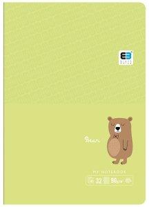 Zeszyt A5 w kolorową linię 16 kartek B&B BEAR niedźwiedź (55563)