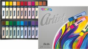 Pastele suche 24 kolory COLORINO ARTIST (65245PTR)