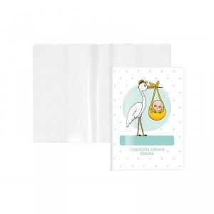 Etui okładka na książeczkę zdrowia dziecka BOCIAN (KZ-00-01)