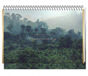 Kalendarz na biurko 2021 JUNGLE planer tygodniowy INTERDRUK (93299)