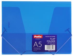Teczka transparentna A5 na gumkę NIEBIESKA (PAT4004S/N/18)