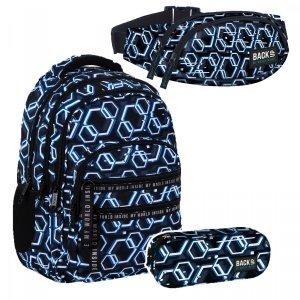 ZESTAW 3 el. Plecak szkolny młodzieżowy BackUP 28 L ONLINE (PLB4M53SET3CZ)