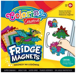 Magnesy na lodówkę COLORINO CREATIVE wzór DINOZAURY (91411PTR)