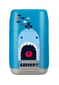 Temperówka podwójna z gumką do mazania Milan Shark Attack niebieska (4706116SRT)
