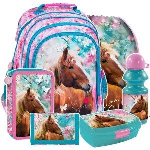ZESTAW 6 el. Plecak szkolny I LOVE HORSES Konie (PL15BKO19SET6CZ)