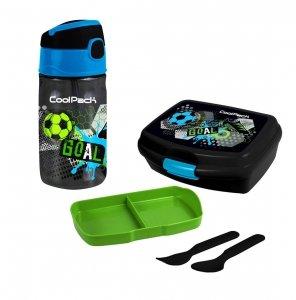 Zestaw bidon i śniadaniówka CoolPack piłka nożna, FOOTBALL (Z01230+Z02230)
